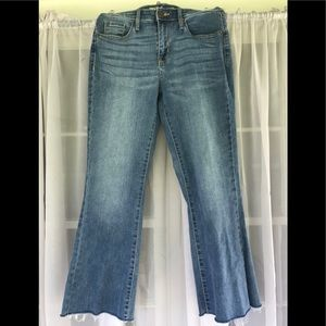 Flare Crop Stretch Jeans